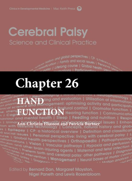 Cerebral Palsy: Science and Clinical Practice – (Chapter 26) – Hand Function