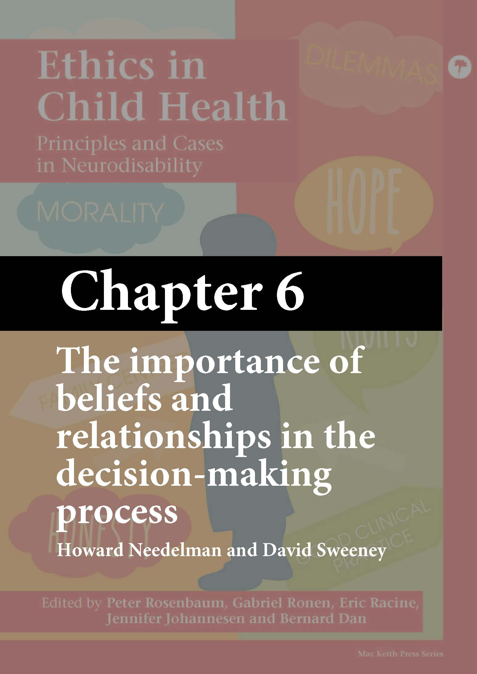 Mac Keith Press book, Ethics in Child Health, Rosenbaum, Chapter 6 cover