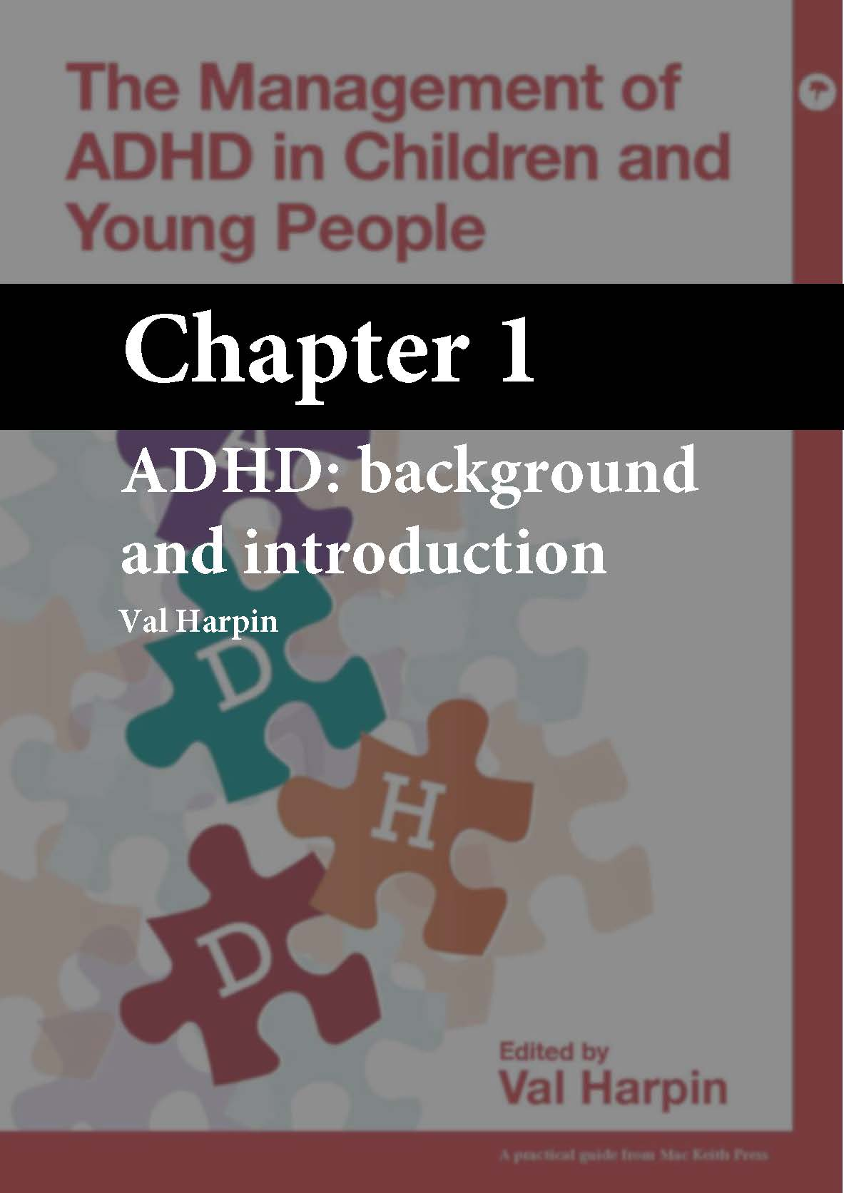 The Management of ADHD in Children and Young People, Harpin, Chapter 1 cover