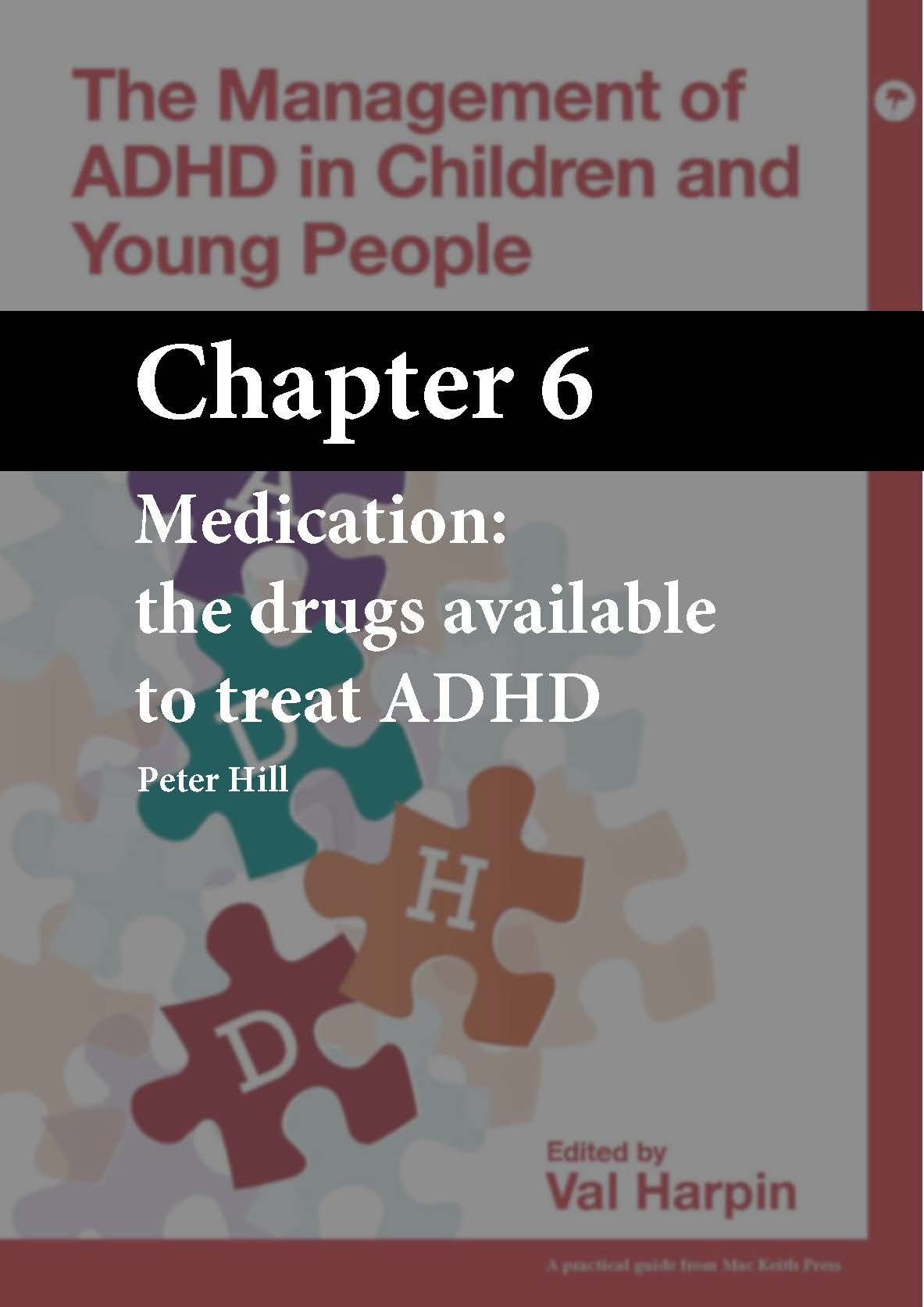 The Management of ADHD in Children and Young People, Harpin, Chapter 6 cover