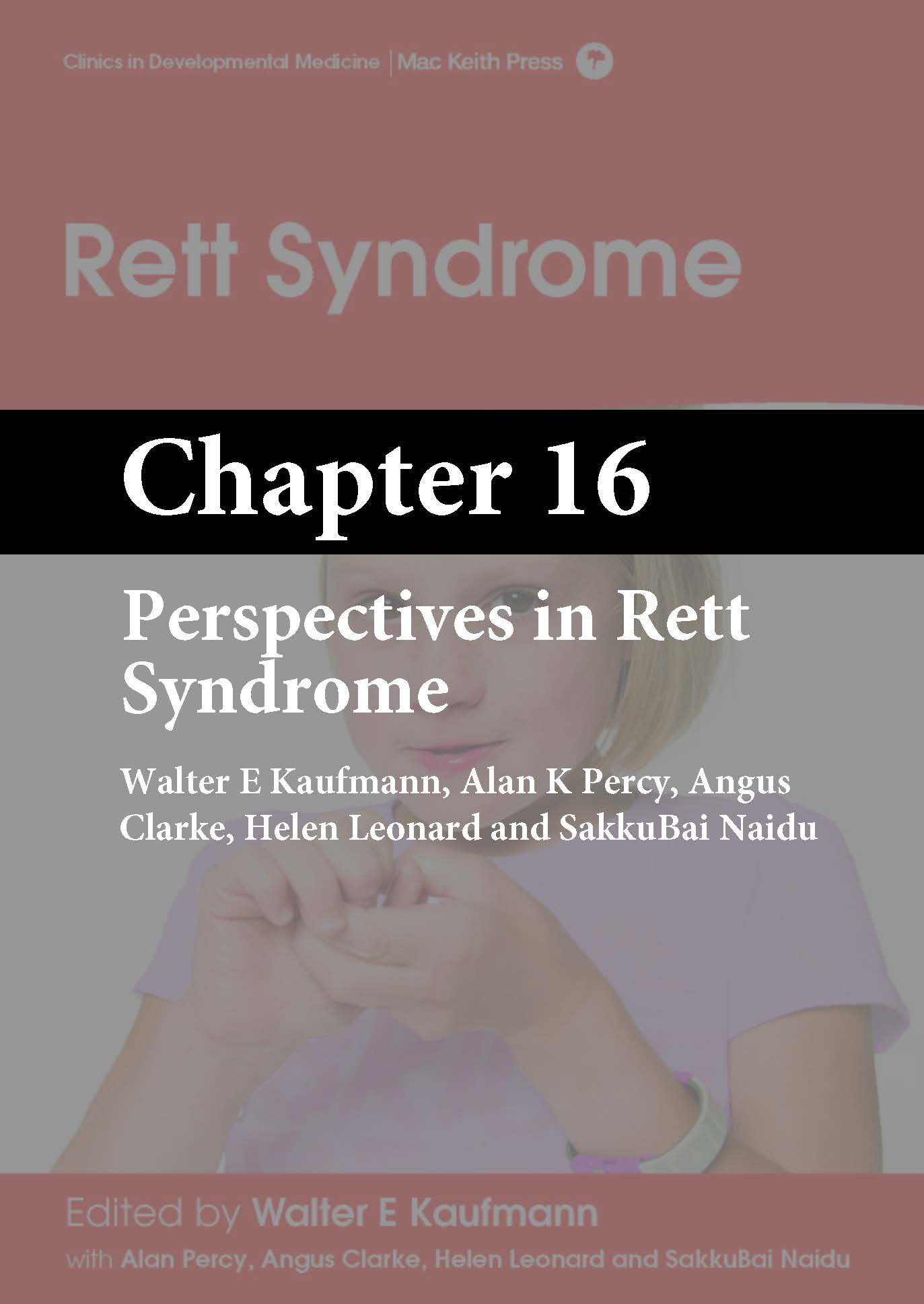 Rett Syndrome, Kaufmann, Chapter 16 cover