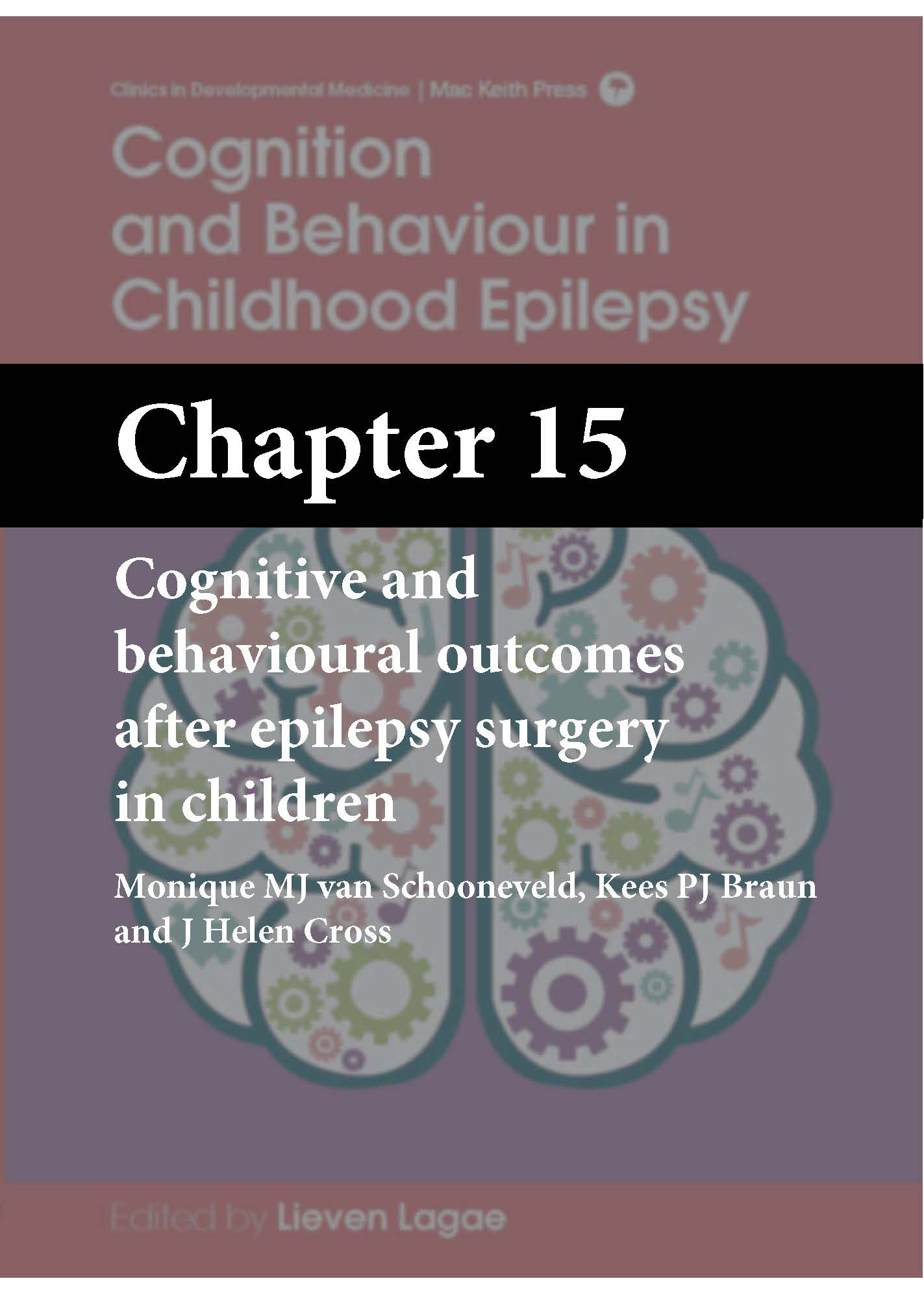 Cognition and Behaviour in Childhood Epilepsy, Lagae, Chapter 15 cover