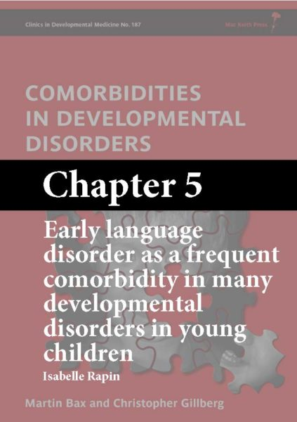 Comorbidities in Developmental Disorders, Bax, Chapter 5 cover
