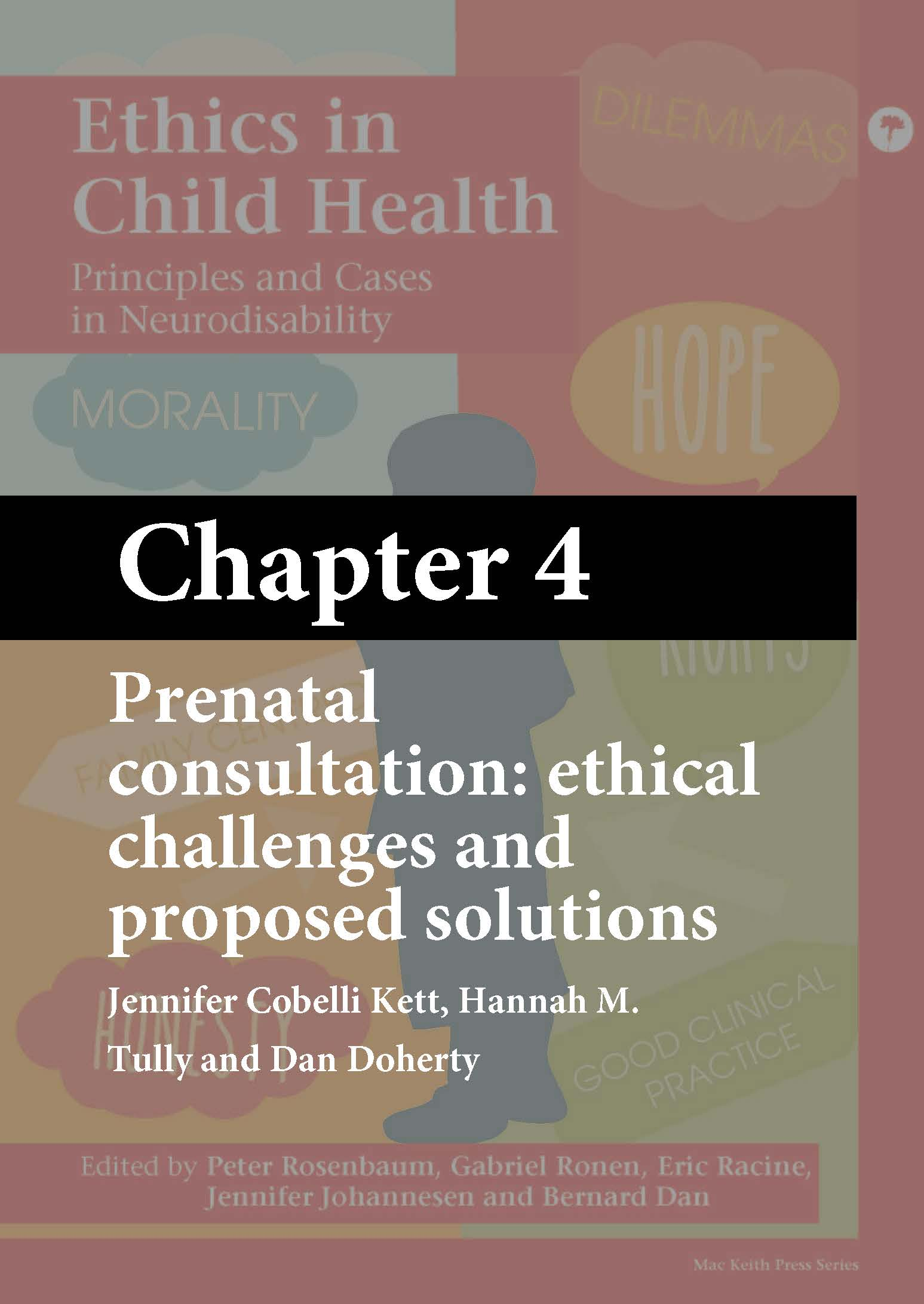 Mac Keith Press book, Ethics in Child Health, Rosenbaum, Chapter 4 cover