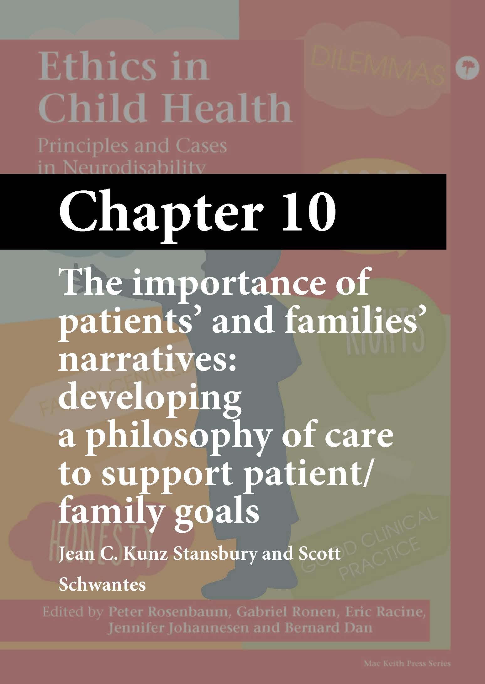 Ethics in Child Health, Rosenbaum, Chapter 10 cover