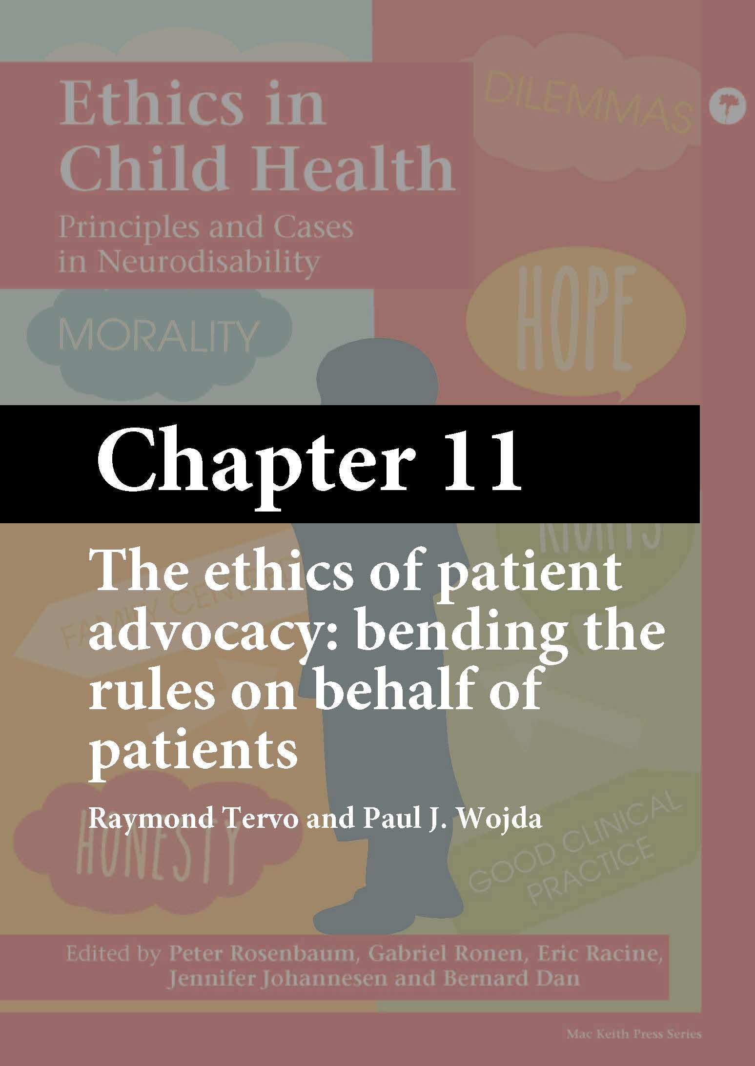 Ethics in Child Health, Rosenbaum, Chapter 11 cover