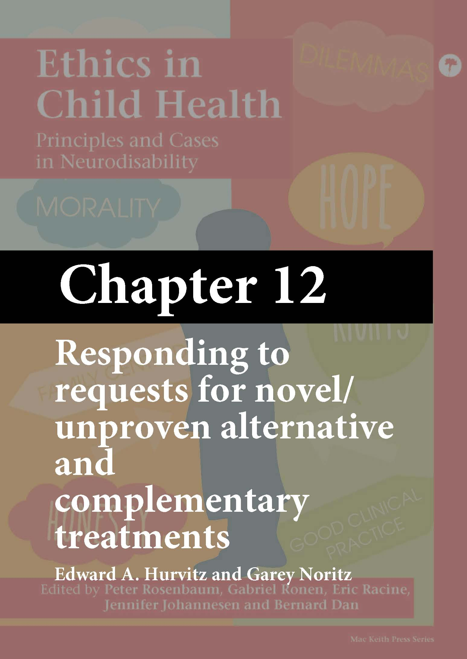 Ethics in Child Health, Rosenbaum, Chapter 12 cover