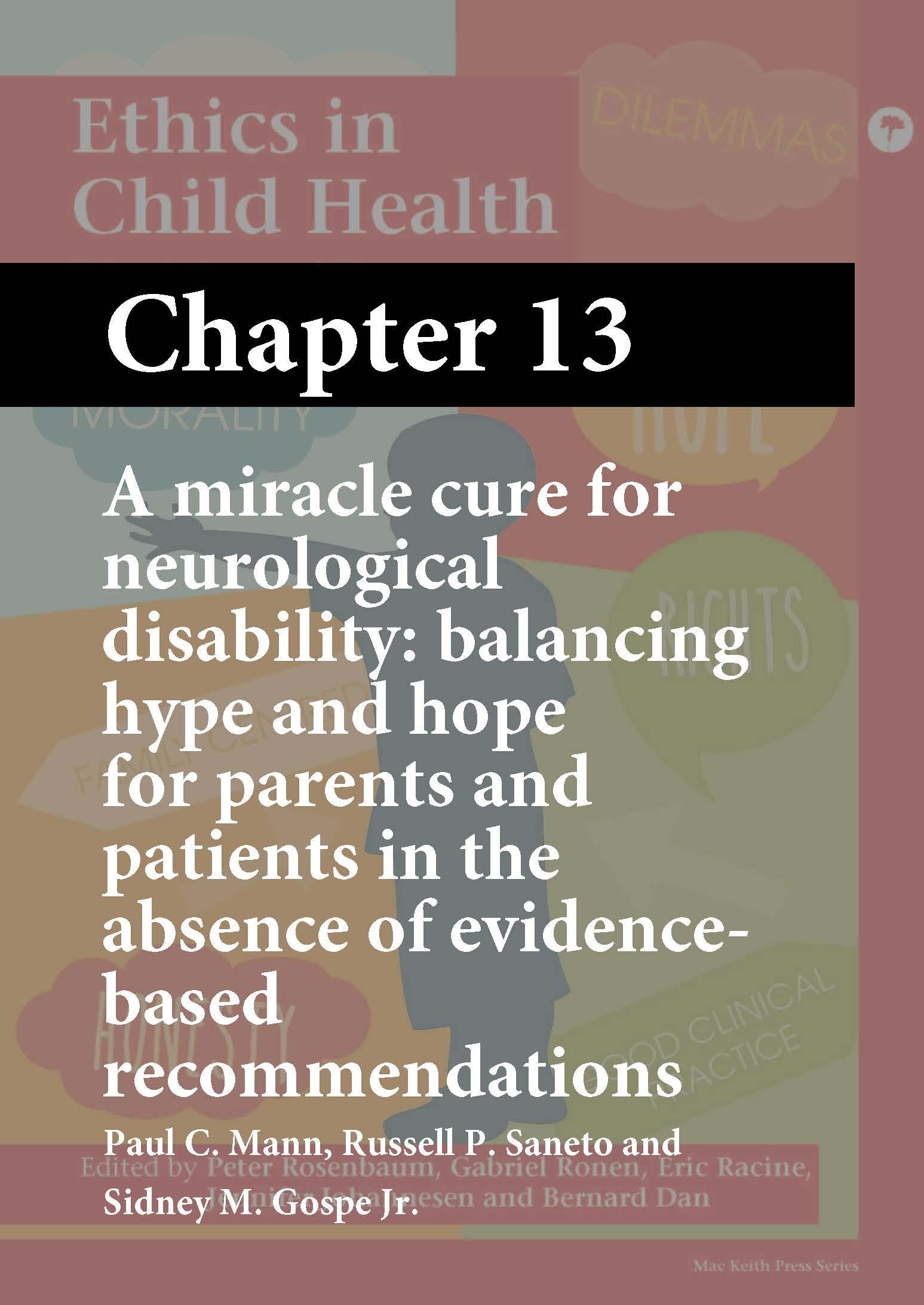 Ethics in Child Health, Rosenbaum, Chapter 13 cover