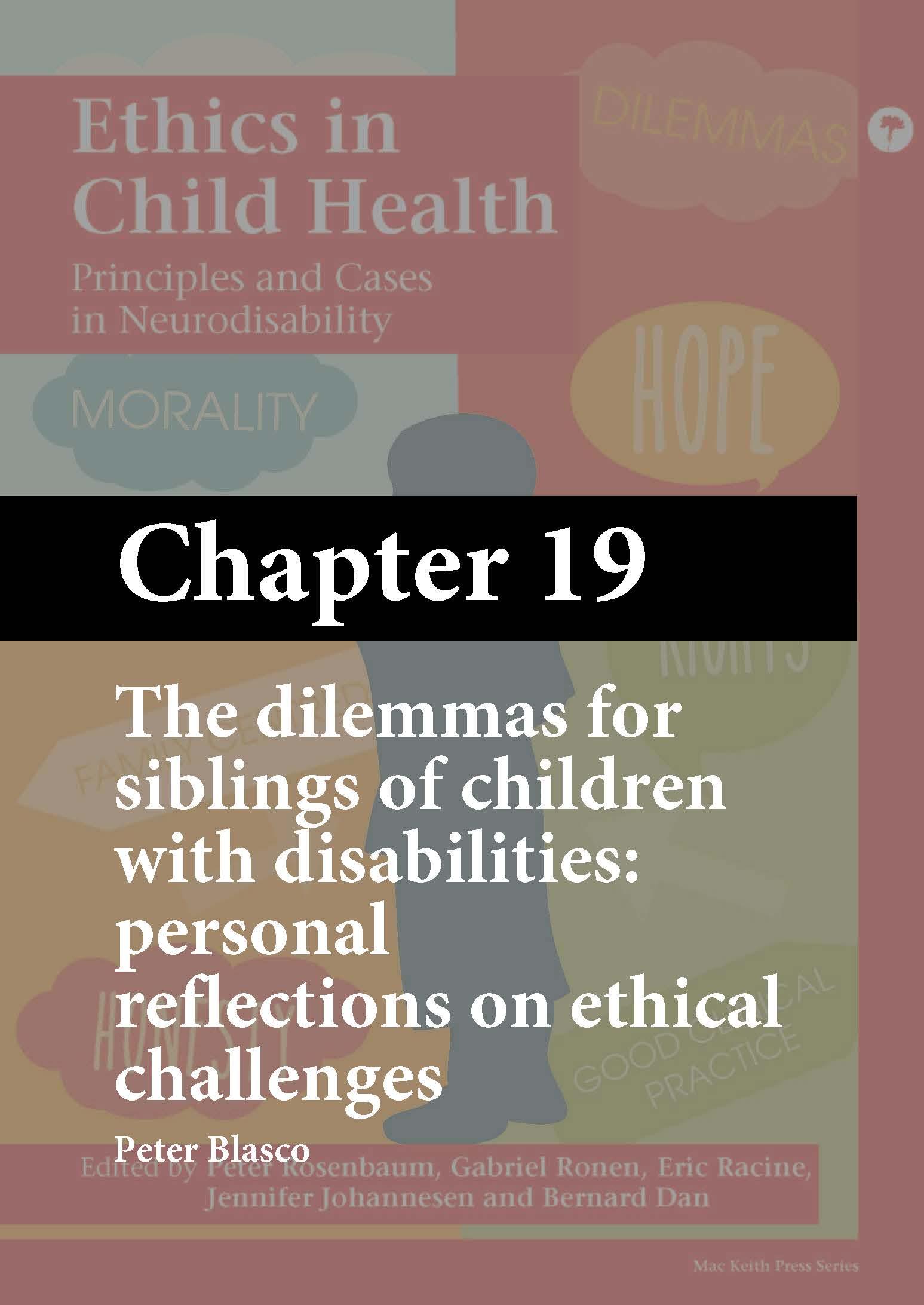 Ethics in Child Health, Rosenbaum, Chapter 19 cover