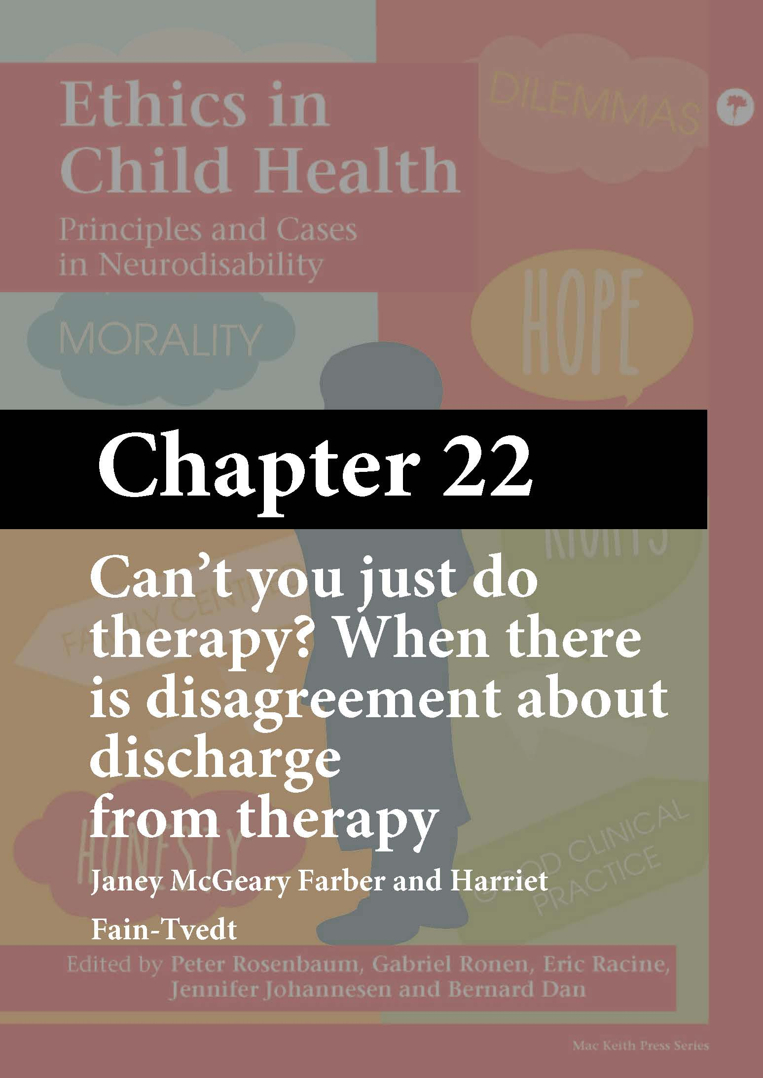Ethics in Child Health, Rosenbaum, Chapter 22 cover