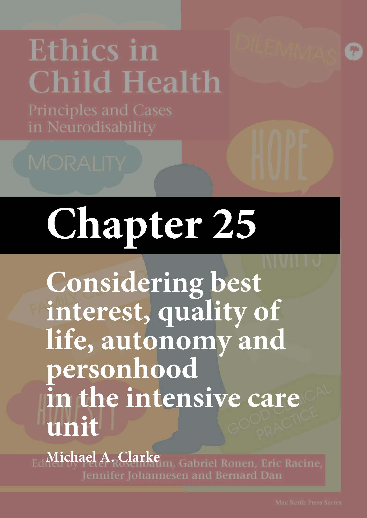 Ethics in Child Health, Rosenbaum, Chapter 25 cover