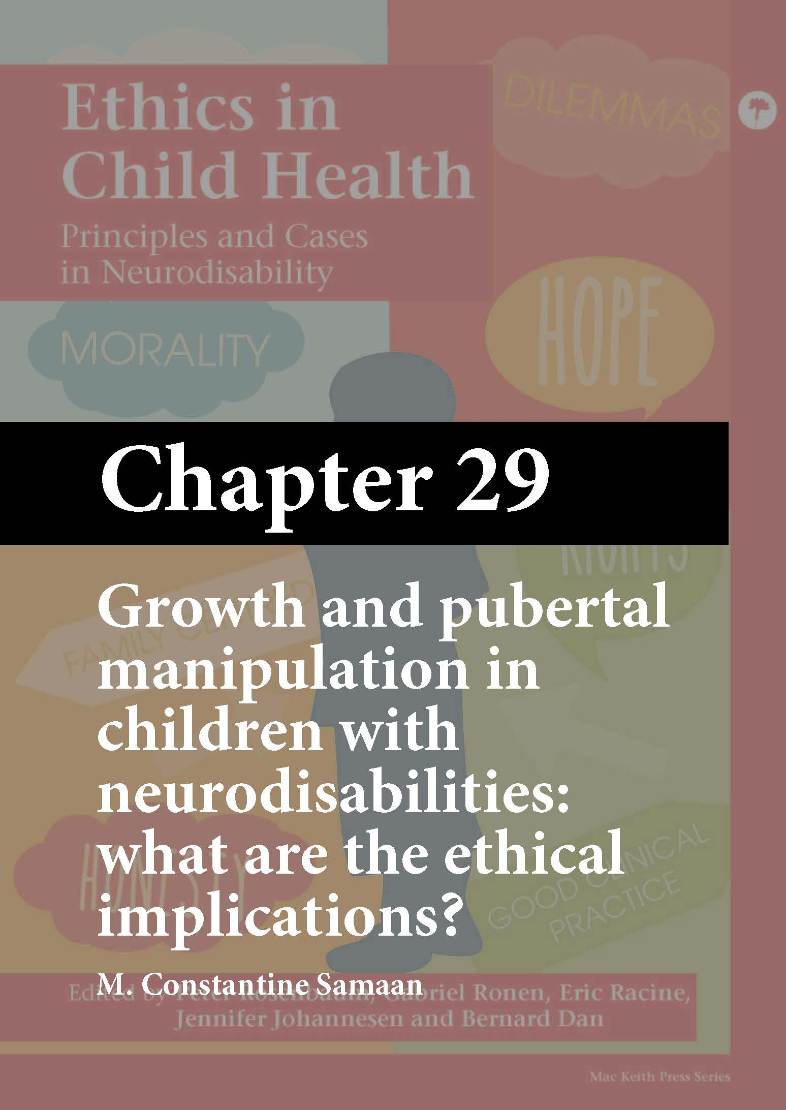Ethics in Child Health, Rosenbaum, Chapter 29 cover