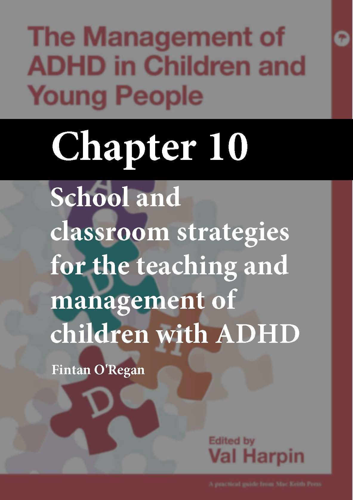 The Management of ADHD in Children and Young People, Harpin, Chapter 10 cover