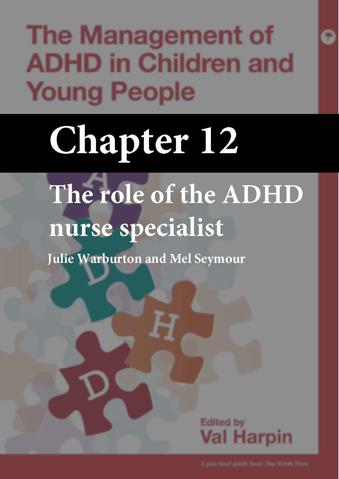 The Management of ADHD in Children and Young People, Harpin, Chapter 12 cover