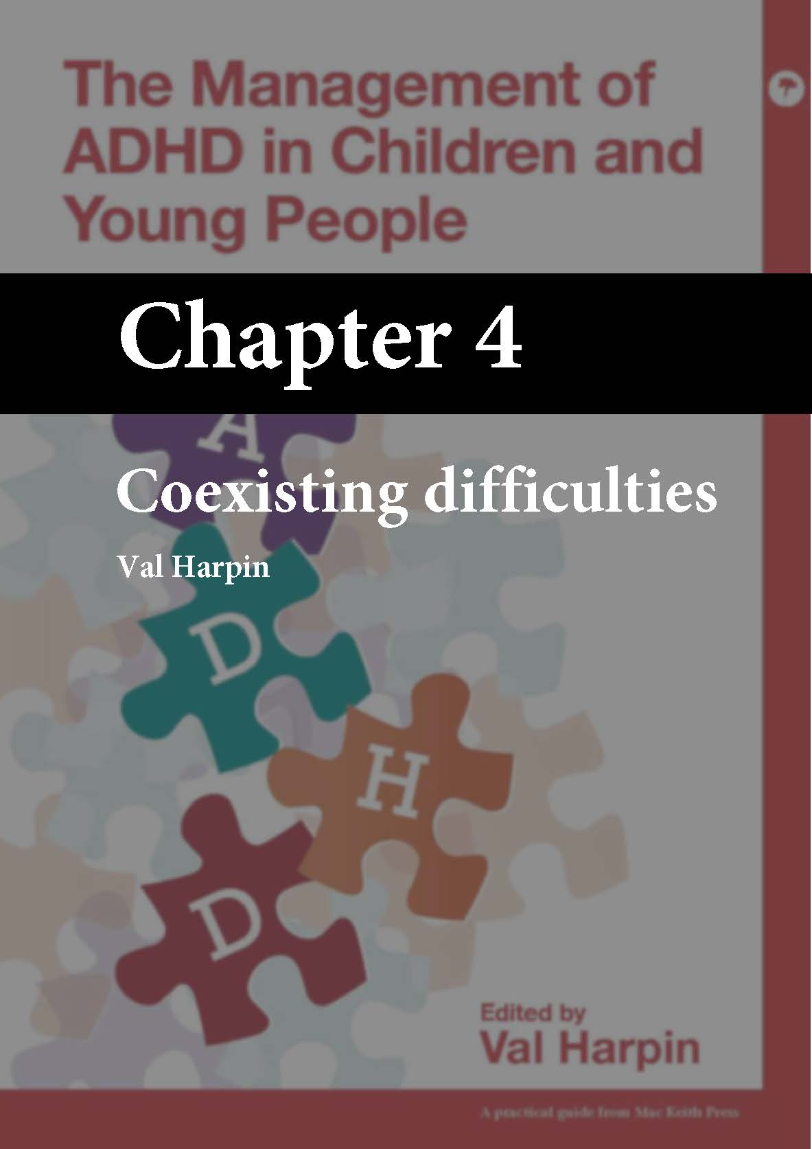 The Management of ADHD in Children and Young People, Harpin, Chapter 4 cover