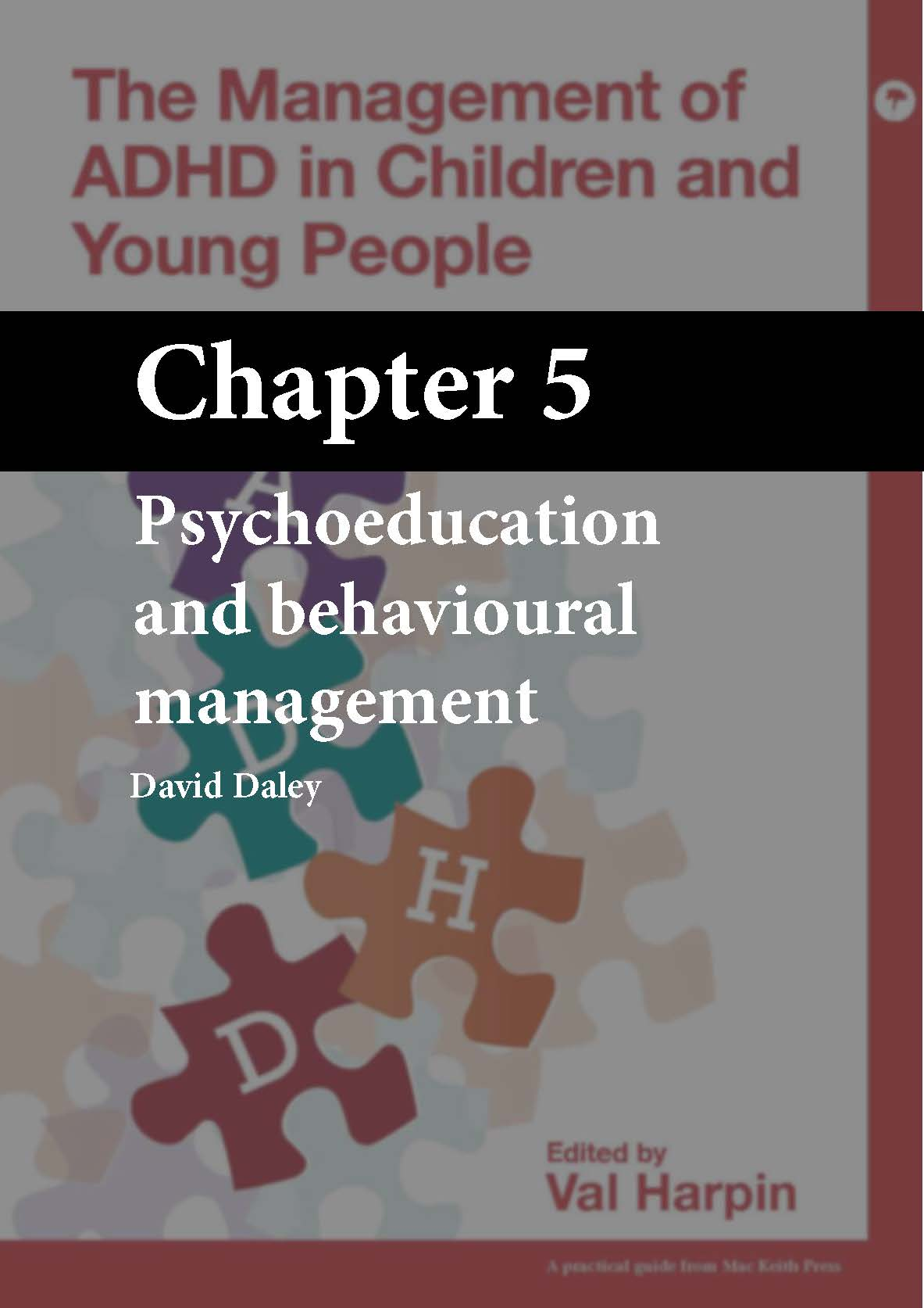 The Management of ADHD in Children and Young People, Harpin, Chapter 5 cover