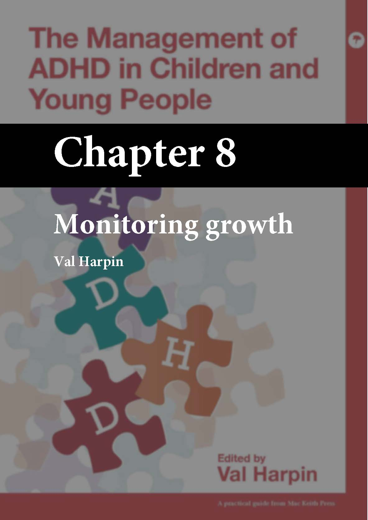 The Management of ADHD in Children and Young People, Harpin, Chapter 8 cover