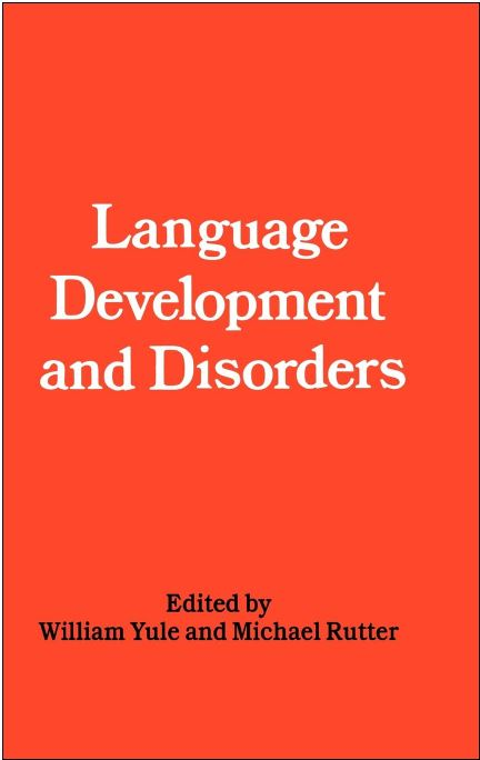 Language Development and Disorders, Yule, cover