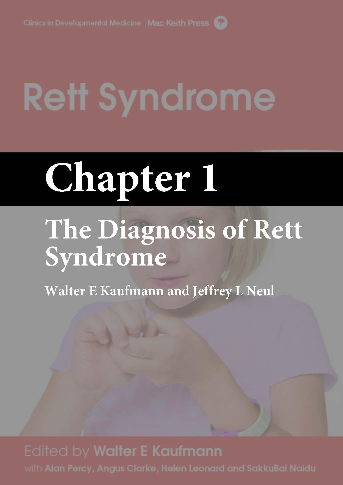 Rett Syndrome, Kaufmann, Chapter 1 cover