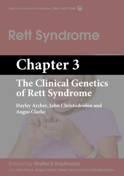 Rett Syndrome, Kaufmann, Chapter 3 cover
