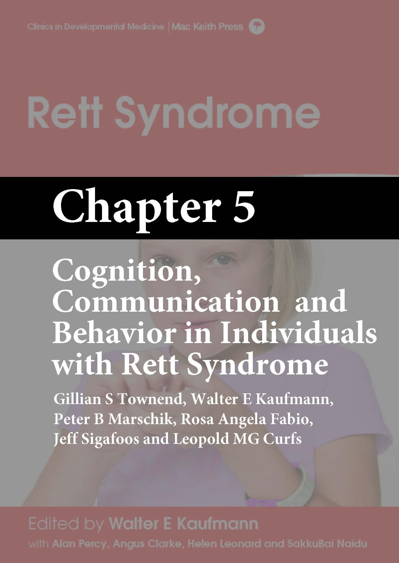 Rett Syndrome, Kaufmann, Chapter 5 cover
