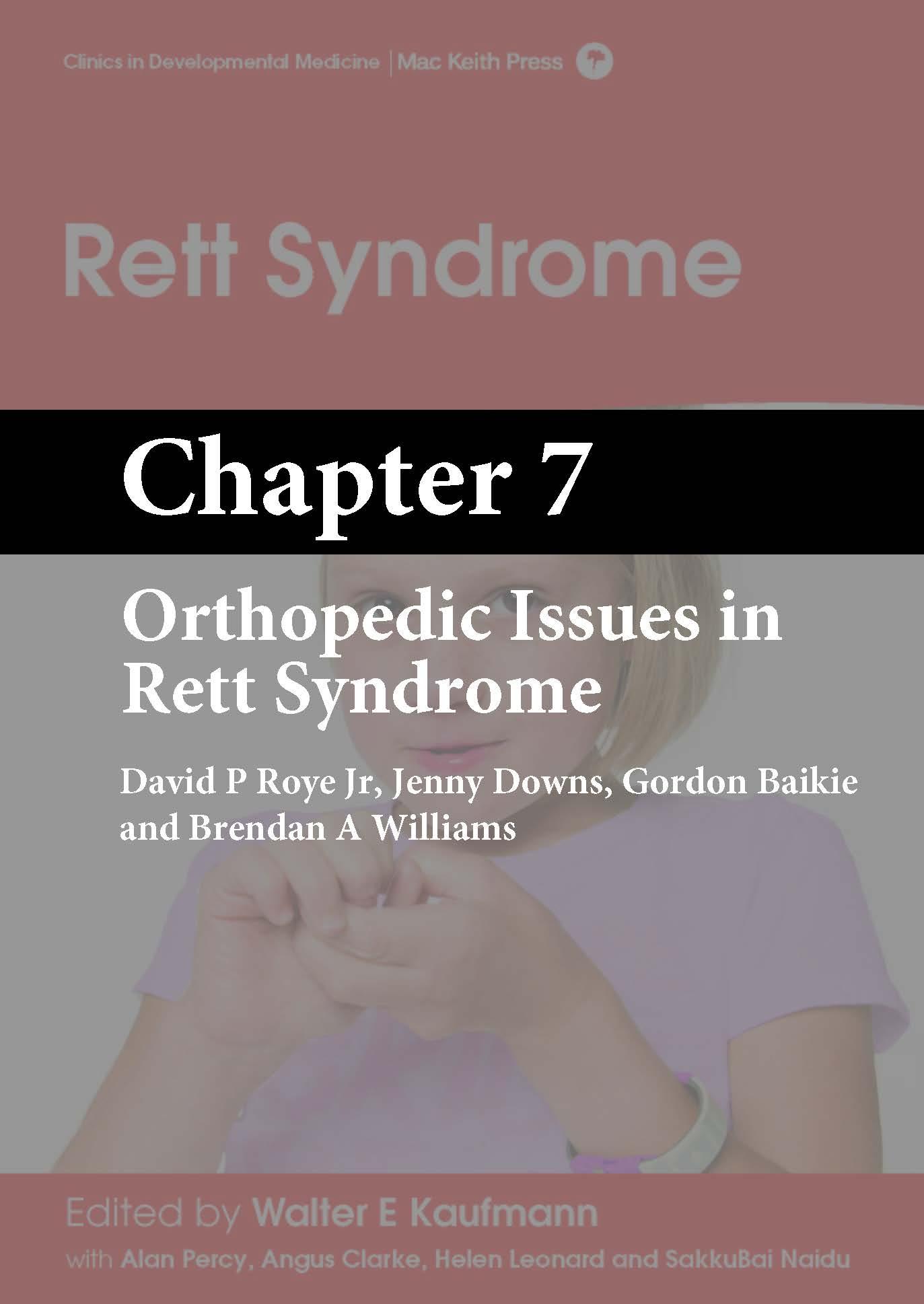 Rett Syndrome, Kaufmann, Chapter 7 cover