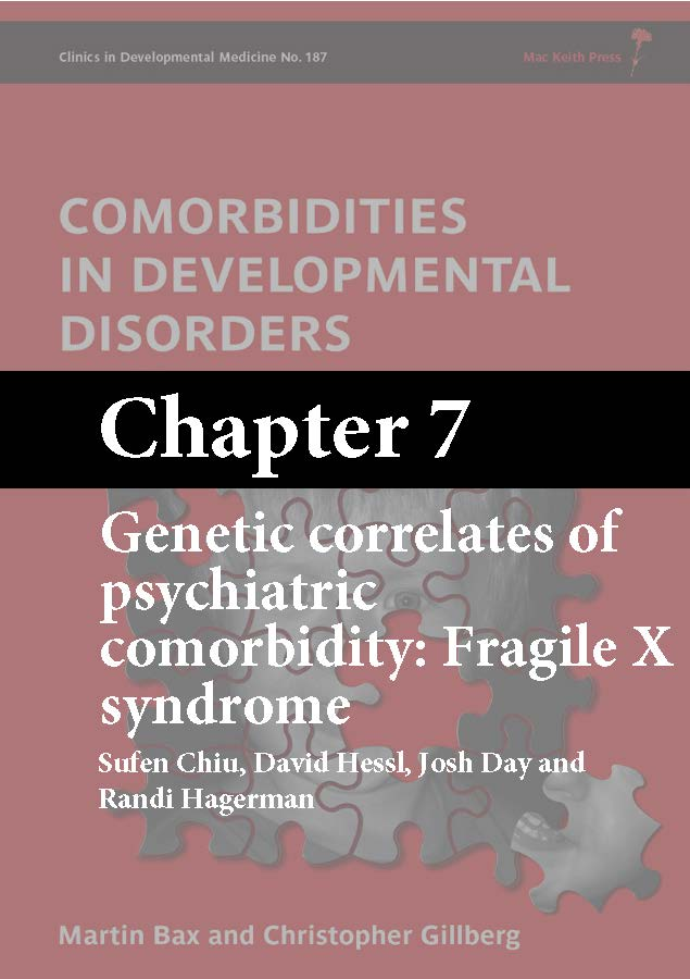 Comorbidities in Developmental Disorders, Bax, Chapter 7 cover