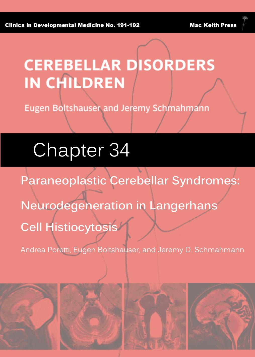 Paraneoplastic Cerebellar Syndromes - Cerebellar Disorders in Children (Chapter 34) COVER
